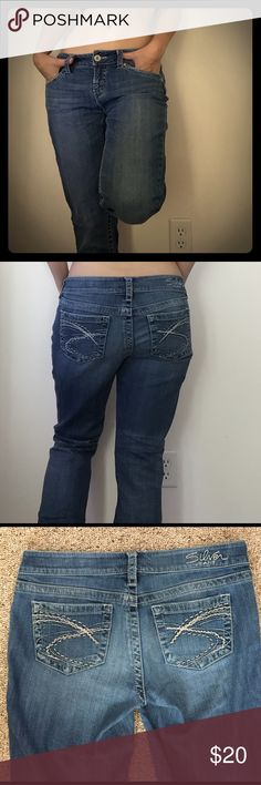"""Silver boot cut jeans Gently worn boot cut jeans. 29 waist and 31"""" inseam. 98% cotton 2% spandex Silver Jeans Jeans Boot Cut"""