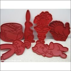 Tupperware cookie cutters. I loved going through the box of my mom's cookie cutters.......I'd lay them all out and organize them :-)