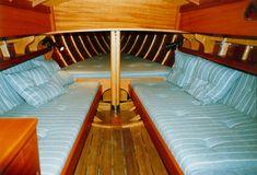 Untitled Document Wooden Sailboat, Wooden Boats, Classic Boat, Boat Interior, Nautical Design, Boat Building, Sailing Ships, Wood Art, Restoration