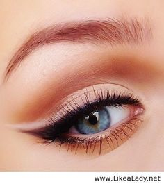 Winged liner with nude liner on top