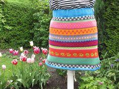 Miniröcke - Bunter Baumwoll Strickrock Lana Gr. S - ein Designerstück von Lotta_888 bei DaWanda