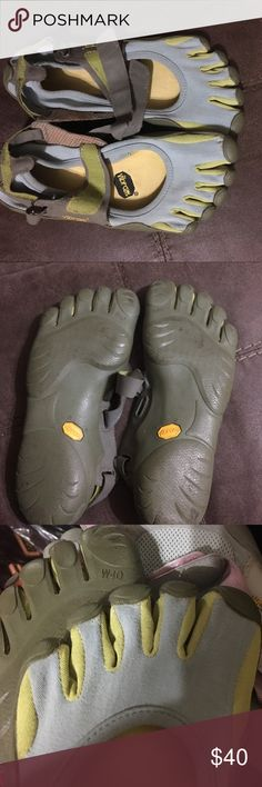 Vibram toe shoes 👠 Light blue and green Vibram Shoes Flats & Loafers