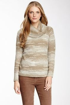 Vip Wool Blend Modified Cowl Neck Pullover