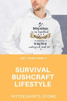Excellent bushcraft techniques that all survival lovers will definitely want to master now. This is basics for wilderness survival and will definitely spare your life. Men's Shirts And Tops, Polo T Shirts, Cheap T Shirts, T Shirts With Sayings, Survival Shelter, Survival Tools, Survival Prepping, Wilderness Survival, Outdoor Outfit