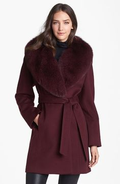 Ah, the winter coat choices are endless....Caruana Loro Piana Wool Coat with Genuine Fox Fur | Nordstrom