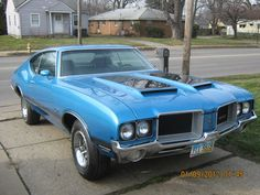 1972 Olds Cutlass 442- named because it was originally 4 Speed, 4 Barrel and DUAL exhaust...
