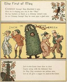The First of May - Jack-in-the Green - illustration by Walter Crane
