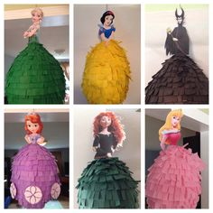 Disney Princess Pinata Elsa Anna Rapunzel by BobbiGirlBoutique