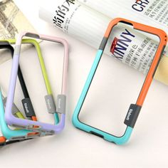 2016 Now 10 color Soft PC+Silicone Bumper Frame Thin Slim Case Cover Side protection for iPhone 6 6s plus cases with Strap
