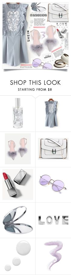 """""""Shein Grey&White style"""" by lillili25 ❤ liked on Polyvore featuring Archipelago Botanicals, Burberry, Miss Selfridge, Topshop and Bally"""