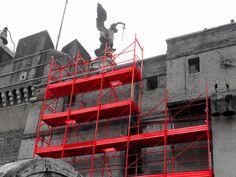 Scaffolding, lifts, boards, all obtainable through asset finance Dead Ringers, Paper Architecture, Id Design, Ad Hoc, Scaffolding, Vertigo, Golden Gate Bridge, Les Oeuvres, Architects