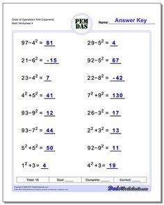 Basic Order of Operations Worksheet! Basic Order of Operations Worksheet Pemdas Worksheets, Free Printable Math Worksheets, Math Tutorials, Math Fractions, Maths, Math Games, Math Math, Math Class, Framed Words