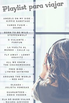 Playlist for traveling: 12 songs that represent those who love vi .- Playlist para viajar: 12 músicas que representam quem ama viajar Playlist for traveling full of music for those who love to travel. Music Is My Escape, Music Is Life, Hippie Sabotage, Mundo Musical, Travel Music, Mood Songs, Chainsmokers, Song Playlist, Song List