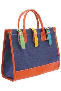 ROMWE   Women's Lady Fashion Canvas Big Capacity Tote Handbag Shoulder Bag, The Latest Street Fashion
