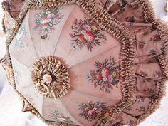 刺繍のパラソル - イギリスとフランスのアンティーク | バラと天使のアンティーク | Eglantyne(エグランティーヌ)