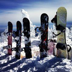 the top of smugglers notch.  #smugglersnotch #snowboards
