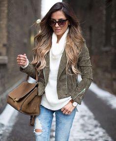 como usar jaqueta perfecto verde