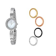 Bulova Women's 98X107 Interchangeable Bezel Genuine Crystal Quartz Watch Box Set List price: $299.00  What does this price mean? You save: $249.01 (83% off) Now:US $49.99