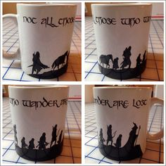 Not all those who wander are lost Lord of the Rings coffee mug