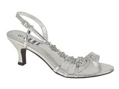 SILVER FLOWER DIAMANTE BRIDAL WEDDING PARTY LOW HEEL SANDALS SIZE 3 4 5 6 7 8