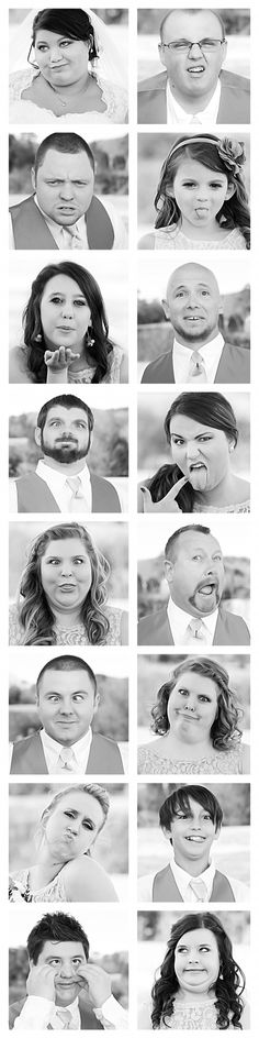 Silly. Wedding. Photography. Collage.