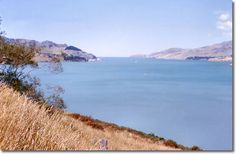 Lyttelton Harbour looking towards the entrance.  Denis Wilford