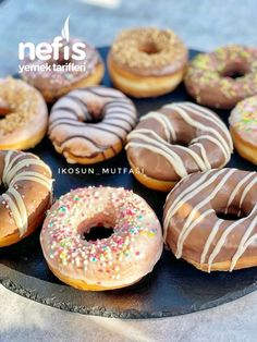 Delicious Donuts, Yummy Food, Yummy Recipes, Doughnut, Cheesecake, Food And Drink, Bread, Desserts, Educational Activities