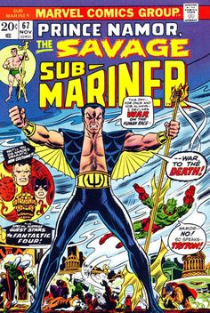 "To save Subby's life, Reed Richards designs a garment which hydrates him on the surface. Namor should be grateful, but he's angrier than ever at the humans - their pollution harmed his people. Story by Steve Gerber (""Defenders""); costume by John Romita Sr. (""Spider-Man"")."