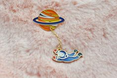 Cute Saturn Orange Blue Astronaut NASA Space Solar System Dangle Planet Sci Fi Pin Badge by Hoodratroughdiamond on Etsy https://www.etsy.com/listing/253040744/cute-saturn-orange-blue-astronaut-nasa