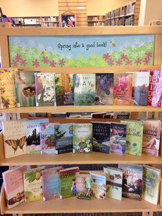 March display--spring into a good book