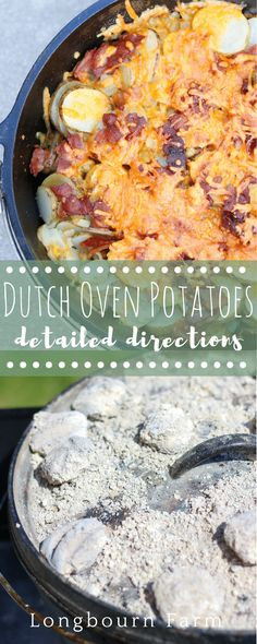 Dutch oven potatoes are a flavor-packed camping classic! A simple & delicious re… Dutch oven potatoes are a flavor-packed camping classic! A simple & delicious recipe with detailed instructions, even directions for cooking indoors. Dutch Oven Recipes, Side Dish Recipes, Cooking Recipes, Side Dishes, Top Recipes, Kitchen Recipes, Easy Recipes, Main Dishes, Dinner Recipes