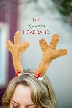 DIY christmas reindeer antler headband