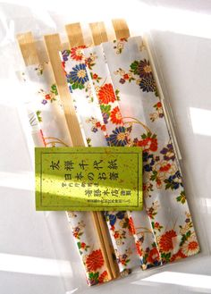 Vintage Japanese Hashi Chopsticks Wrapped in by RenaissanceFair
