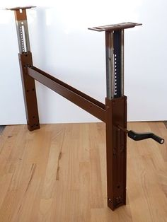 Image result for table lift with crank-mechanism for height-adjustable tables