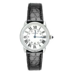 Best Price Cartier Women's W6700155 Ronde Solo Black Leather Watch Special offers - http://greatcompareshop.com/best-price-cartier-womens-w6700155-ronde-solo-black-leather-watch-special-offers