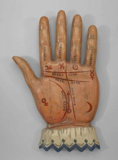 """vint-agge-xx:  """"19th Century-  American Palmist Trade Sign  """""""