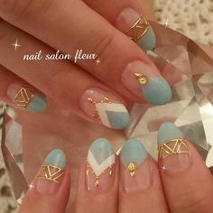 43 Trendy Ideas For Nails Summer Diy Manicures Simple Nail Designs, Nail Art Designs, Blue Nails, My Nails, Nail Candy, Winter Nail Art, Nail Accessories, Perfect Nails, French Nails