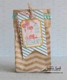 Tag a Bag birthday gift bag #stampinup #tagabag