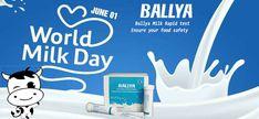 Happy World Milk Day ! World Days, Raw Milk, Food Safety, June, Kit, Happy, Ser Feliz, Food Security, Being Happy