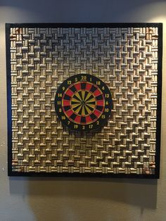 I originally made this wine cork board as a backing for my sons dart board. The 4 x 4 size (which contains more than 1,000 wine corks) is shown in the pictures, but I can make any size, from 1 x 1 up. The cost for the 4 x 4 is $400 plus shipping. The 1 x 1 is $100; 2 x 2 is $200; 3 x 3 is