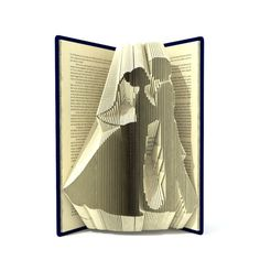 Book folding pattern BRIDE and GROOM 227 folds Tutorial