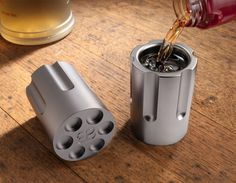 Our Six Shooter Shot Glass draws its inspiration from the classic Colt Revolver. Our patented Six Shooter Shot Glass replicates the cylinder of the classic revolver -- however instead of loading bulle Unique Shot Glasses, Getting Fired, Revolver, Custom Engraving, Groomsman Gifts, Things To Buy, Groomsmen, Liquor, Gadgets