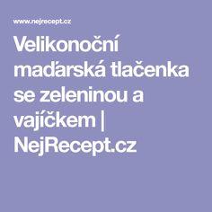 Velikonoční maďarská tlačenka se zeleninou a vajíčkem   NejRecept.cz