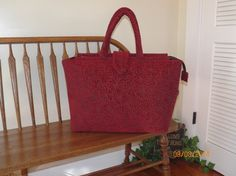 Rouge Lykke Chenille Tapestry Carpet Bag 149    by SignsofWelcome