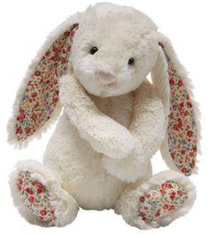 Doudou lapin blanc liberty - Ma Première Valise