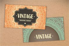 Check out 12 Business card in ethnic style by ViSnezh on Creative Market