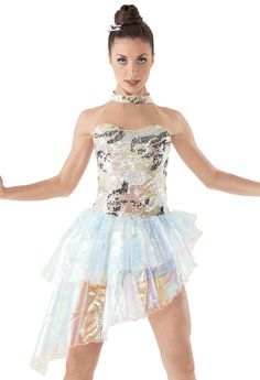 Weissman™ | Sequin Organza Layered Skirt Biketard
