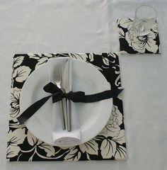 Souplat quadrado feito de papelão e tecidos!