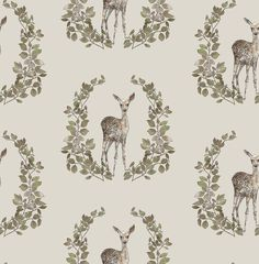 Fawn Wood print by Katy Hackney licensed surface pattern design in the Craft consortium Winter Woodland book Co Design, Decoupage Paper, Hand Illustration, Surface Pattern Design, Watercolor Print, Botanical Prints, Wood Print, Scrapbook Paper, Print Patterns