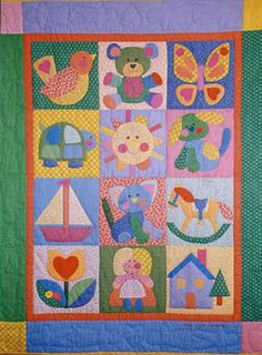 children's quilt, made this one myself and enjoyed every second, several yrs ago now!! She has beautiful applique patterns.